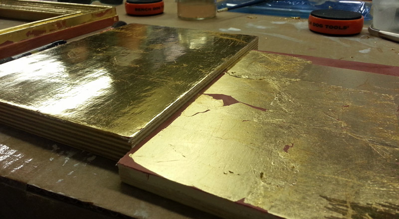 Burnished-water-gilded-panel
