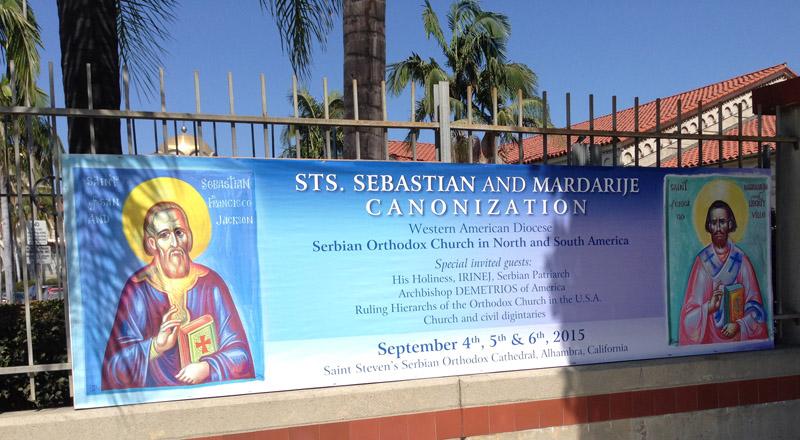 Canonization-glorification-St-Sebastian-banner