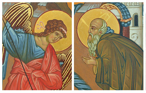 Miracle of St Michael at Chonae Orthodox Icon Yvonne Hajdu-Cronin