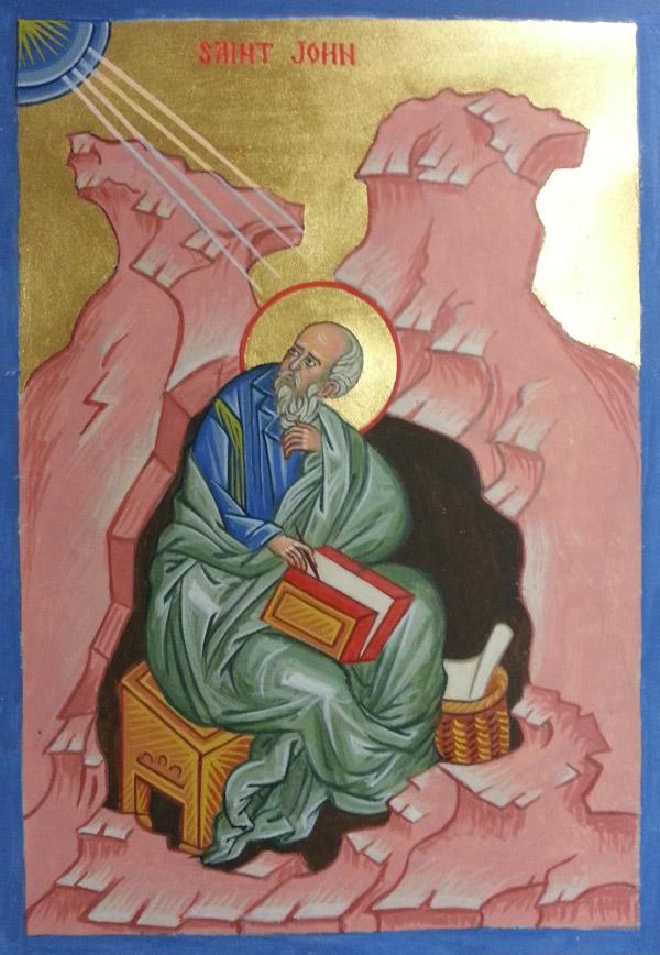 St John Evangelist Manuscript Illumination Icon