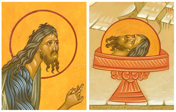 Orthodox Icon Beheading of St John Details