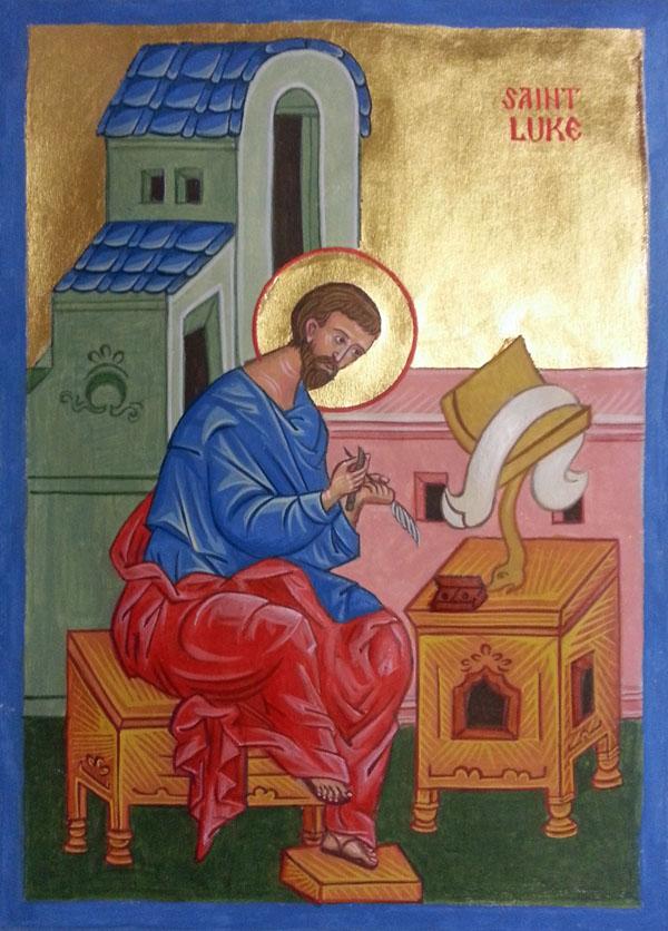 St Luke Evangelist Manuscript Illumination Icon
