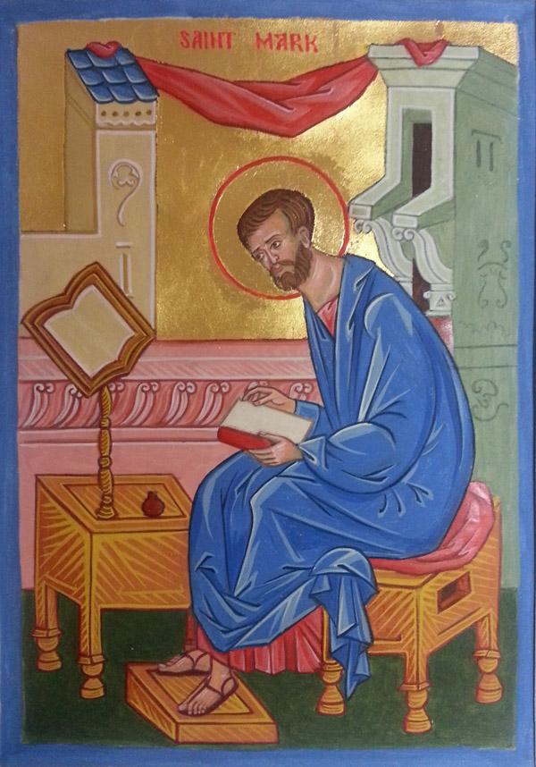 St Mark Evangelist Manuscript Illumination Icon