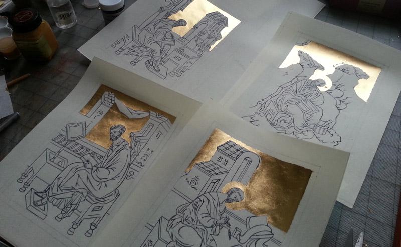 Gilding on Paper Parchment