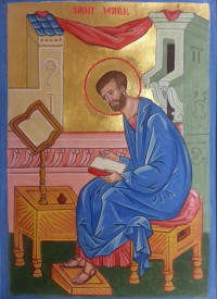 St Mark Evangelist Manuscript Illumination Icon