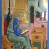 St Matthew Evangelist Manuscript Illumination Icon